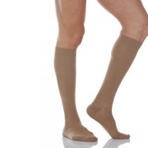 Компресивни чорапи унисекс до коляното 140 DEN (18-22 mmHg) RelaxSan® Cotton Socks 820,  телесен цвят