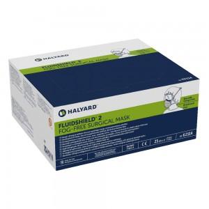 Маска хирургична Halyard Fluidshield*2 62114 с предпазен екран х 25 бр.