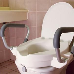 Надстройка за тоалетна чиния 10 см с подлакътници и капак