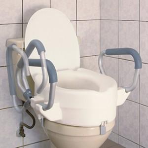 Надстройка за тоалетна чиния 17.8 см с подлакътници и капак