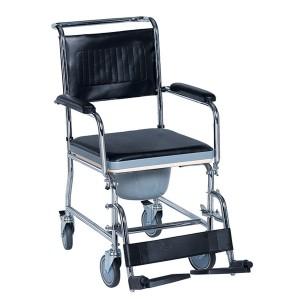 Комбиниран стол за тоалетна и баня с колела Caremax 613