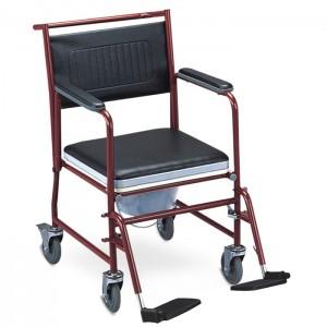 Комбиниран стол за тоалетна и баня с колела Caremax 611