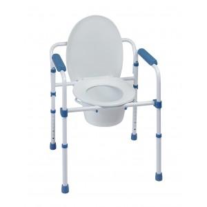 Стол за тоалетна и баня сгъваем 3 в 1