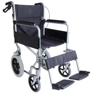 Инвалидна количка транспортна алуминиева с чужда помощ СА9731