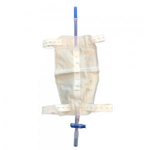 Уринаторна торба за крак 500 мл с Т-образна клапа и тръба 10 см