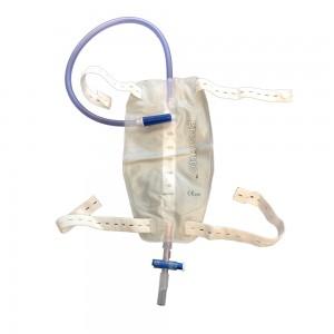 Уринаторна торба за крак 500 мл с Т-образна клапа и тръба 50 см