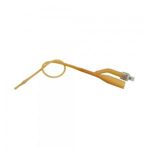 Уретрален катетър двупътен фолиев Beromed® педиатричен с балон 3-5 мл латекс